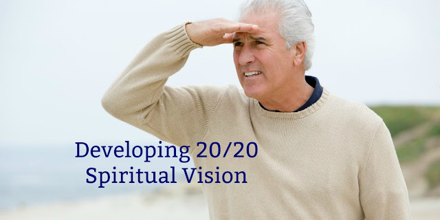 If we want 20/20 spiritual vision, we need to see beyond our present circumstances. This 1-minute devotion explains. #BibleLoveNotes #Bible #Devotions