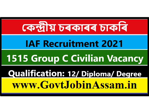 IAF Group C Civilian Recruitment 2021 :: Apply For 1515 Vacancy