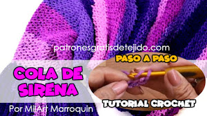 Cola de Sirena a Crochet Paso a Paso en Español / Tutorial Video