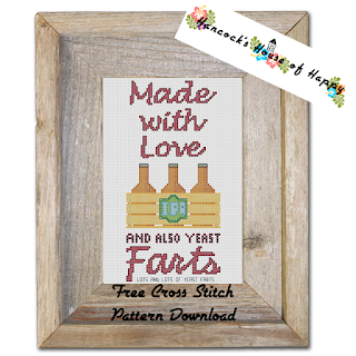 hilarious craft beer yeast farts cross stitch pattern
