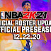 NBA 2K21 OFFICIAL ROSTER UPDATE 12.22.20 LATEST TRANSACTION, MORE JERSEYS, COURTS AND SHOES - OFFICIAL PRESEASON