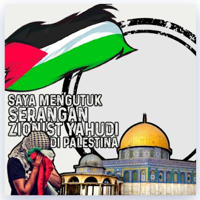Twibbon Dukungan untuk Muslim Palestina 2021