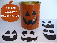 tin can magnetic jack-o-lantern