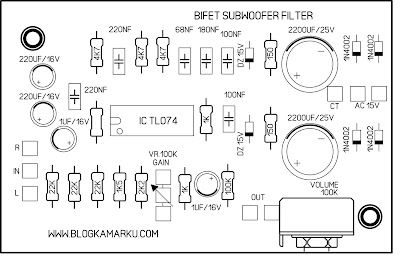 subwoofer filter PCB Biffet layout
