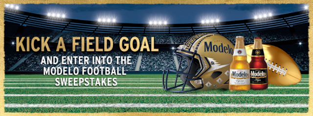 Kick a field goal in Modelo's sweepstakes and instant win game! You could win a Latin inspired tailgate party or a tailgate kit to have your own!