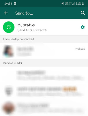Send video on WhatsApp