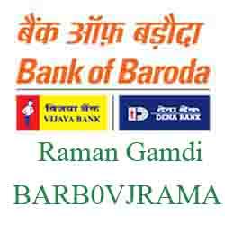 Vijaya Baroda Bank Raman Gamdi, Vadodara Branch New IFSC, MICR