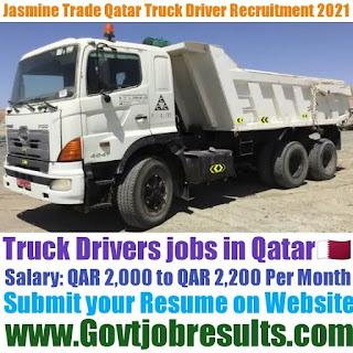 Jasmine Trade Qatar Truck Driver Recruitment 2021-22
