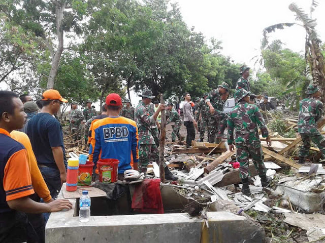 Korban Tsunami Selat Sunda Capai 281 Meninggal, 1.016 Luka-Luka dan 57 Hilang