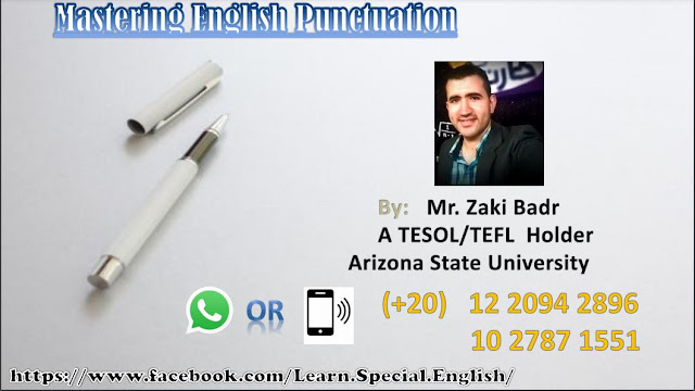 Mastering English Punctuation book pdf  download by Mr. Zaki Badr