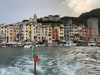 Departing Portovenere from the back of a boat
