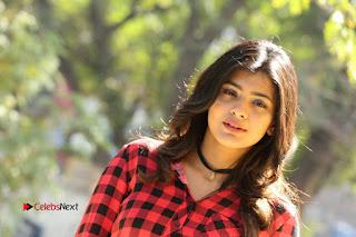 Actress Hebah Patel Stills in Blue Denim Jeans at Nanna Nenu Naa Boyfriends Movie Success Meet  0099.JPG