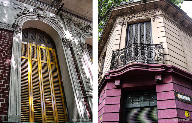 Fachadas típicas do bairro de Cordón, em Montevidéu