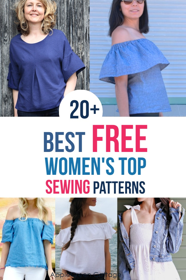photo relating to Free Printable Plus Size Sewing Patterns named 20+ Suitable Absolutely free Sewing Styles For Womens Tops - AppleGreen