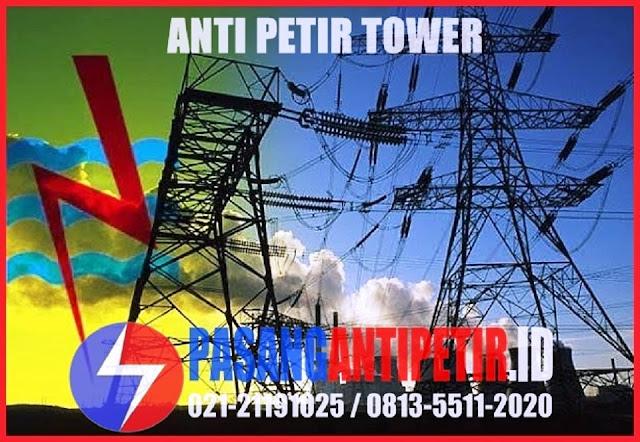 penangkal petir tower, anti petir tower, harga penangkal petir tower, jasa pasang penangkal petir untuk tower