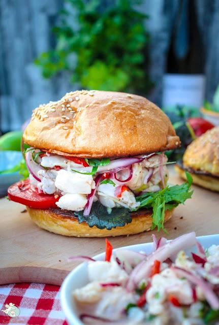 perfekt für den Sommer: Ceviche als Burger
