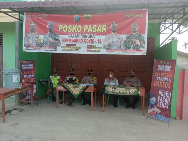Forkopimca Bersama Personel Jajaran Kodim 0207/Simalungun Laksanakan PPKM Skala Micro