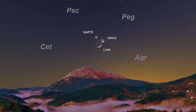 Resultado de imagen de imagen de luna 31 enero 2017 con venus al lado