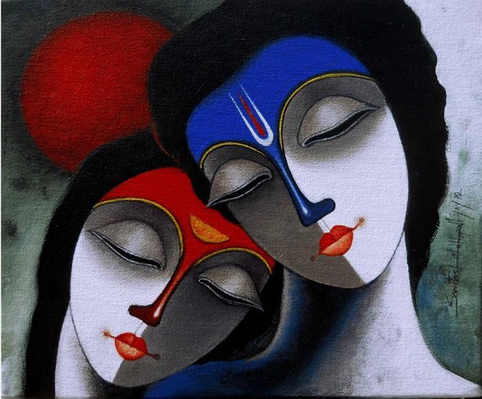 Индийский художник. Santosh Chattopadhyay 9