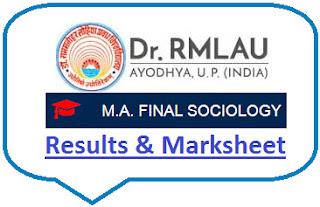Avadh University MA Sociology Final Result 2021