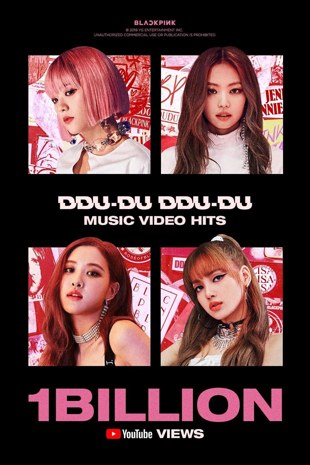 BLACKPINK's 'DDU-DU DDU-DU' Becomes First K-Pop Group MV to Touch 1 Billion Views on Youtube