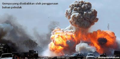 Gempa yang disebabkan oleh penggunaan bahan peledak - pustakapengetahuan.com
