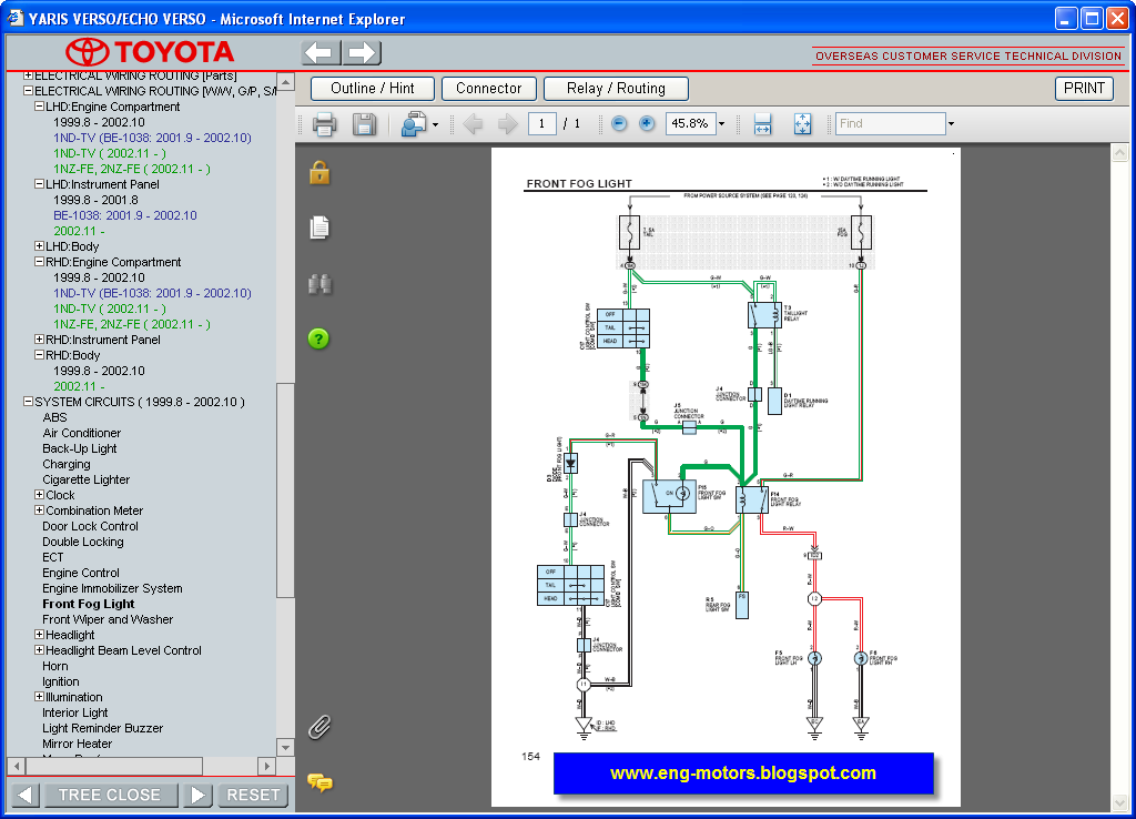 Toyota Yaris Verso Repair Manual  U0635 U064a U0627 U0646 U0629  U062a U0648 U064a U0648 U062a U0627