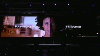 Image result for Galaxy S9 iris scanning