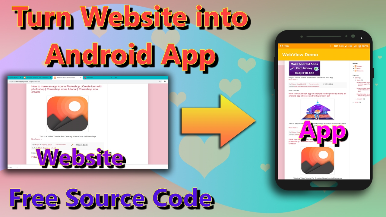 Android App Development: Convert website to android app | How to