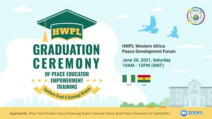 HWPL: 232 Educators from Western African Countries Graduated Peace Education Program