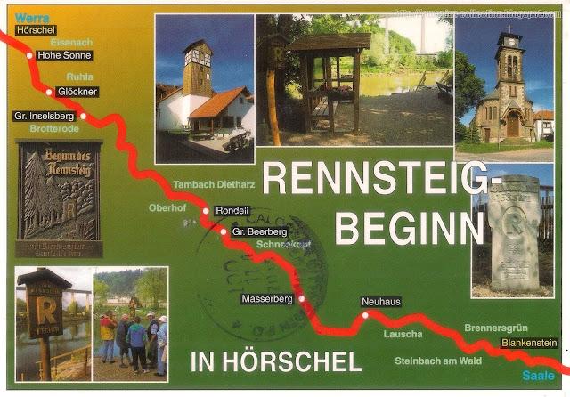 Postcard from Germany | Mapcard of Rennsteig