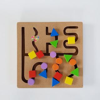 Maze Natural Mainan Montessori Jogja