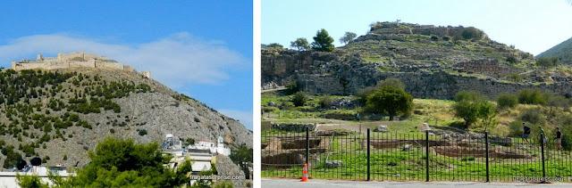 Bate e volta a partir de Nafplio: Castelo de Larissa, em Argos, e sítio arqueológico de Micenas
