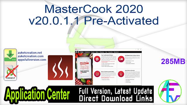 MasterCook 2020 v20.0.1.1 Pre-Activated