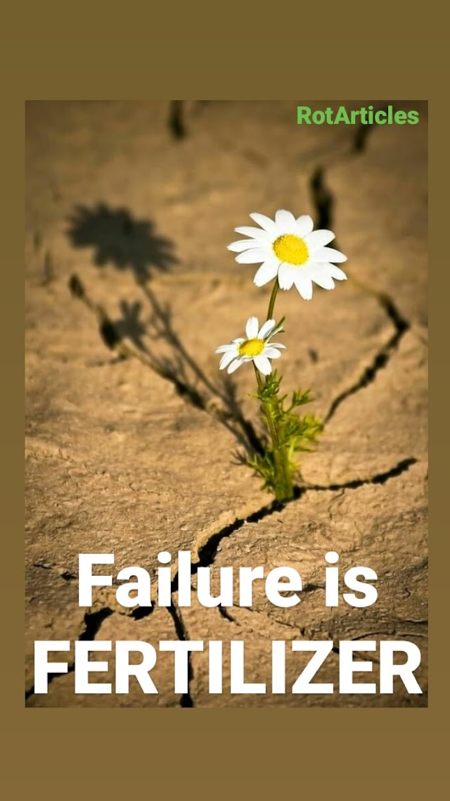 Failure is FERTILIZER 🌸..