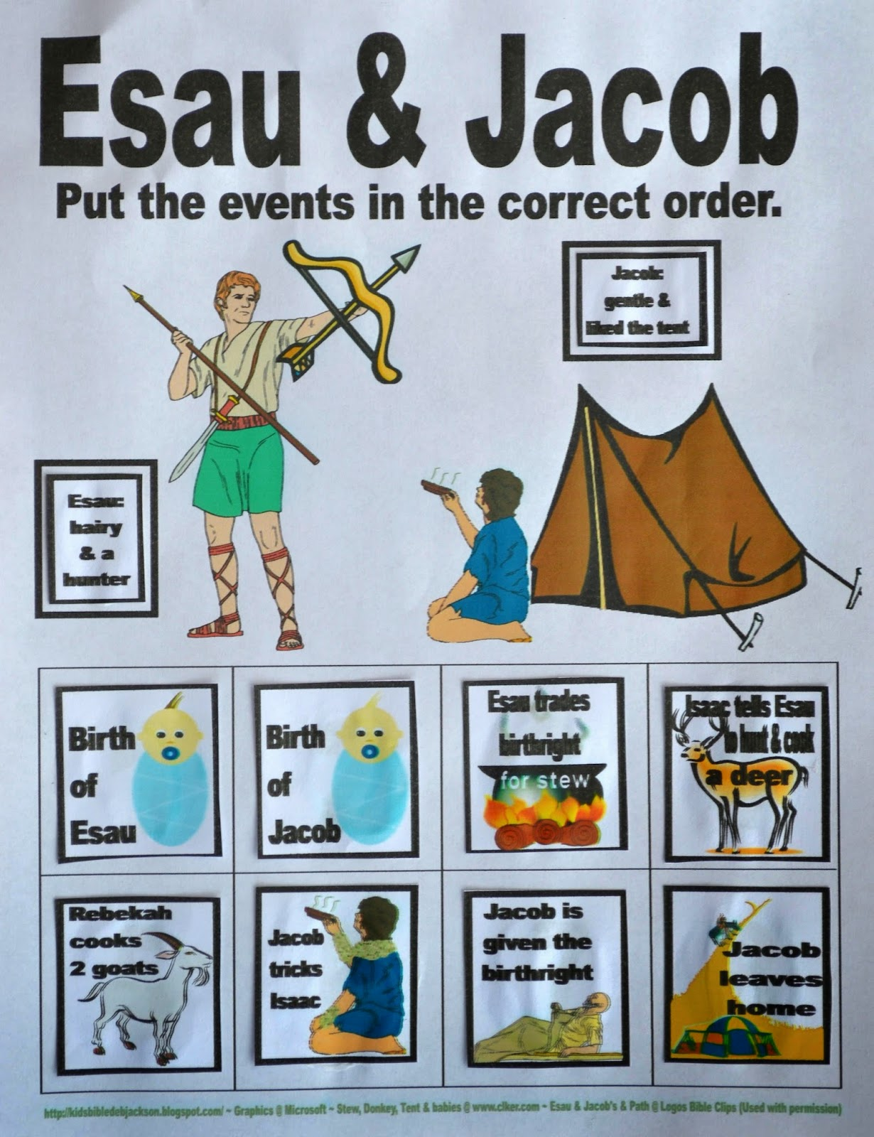 Bible Fun For Kids: Genesis: Jacob \u0026 Esau [ 1600 x 1230 Pixel ]