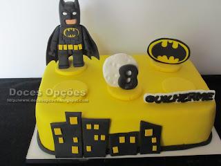 Bolo de aniversário Batman Lego