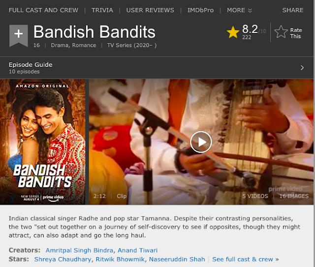 Download Bandish Bandits (2020) S01 Hindi Amazon Prime Video WEB Series 480p | 720p WEB-DL 200MB