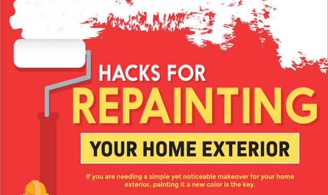 Hacks for Repainting Your Home Exterior #infographic