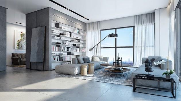 Dekorasi Interior Putih Modern Rumah Minimalis