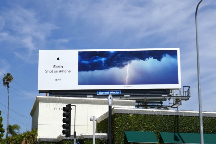 Earth Shot on iPhone Lightning billboard