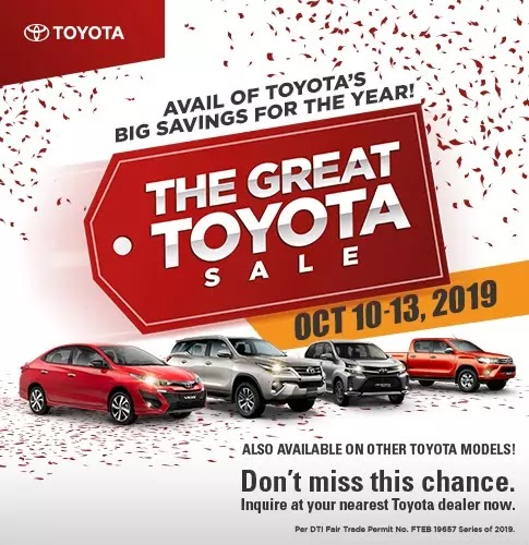 The Great Toyota Sale 2019