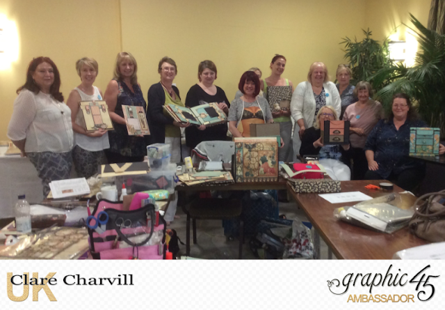 Graphic 45 Crafters Retreat with Clare Charvill Ambassador UK