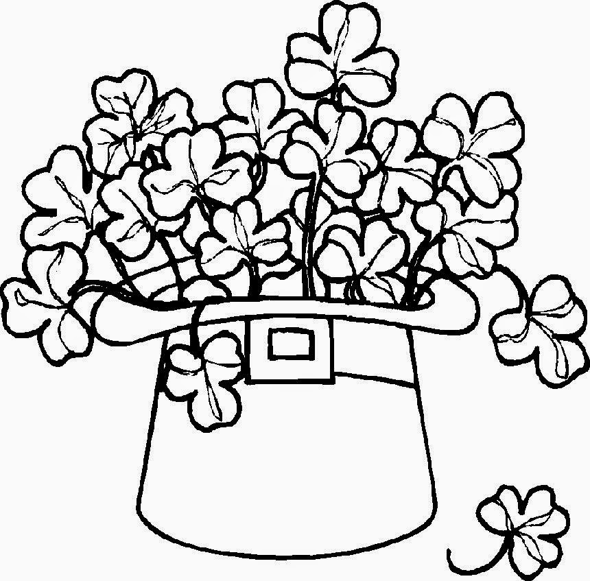 shamrock coloring pages free coloring pictures