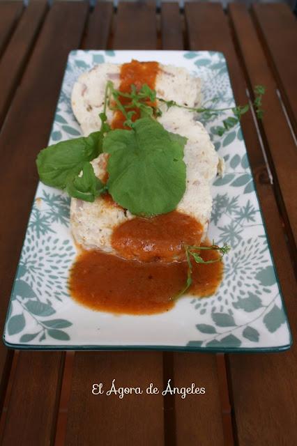 Fiambre de pollo con salsa inesperada  El Ágora de Ángeles