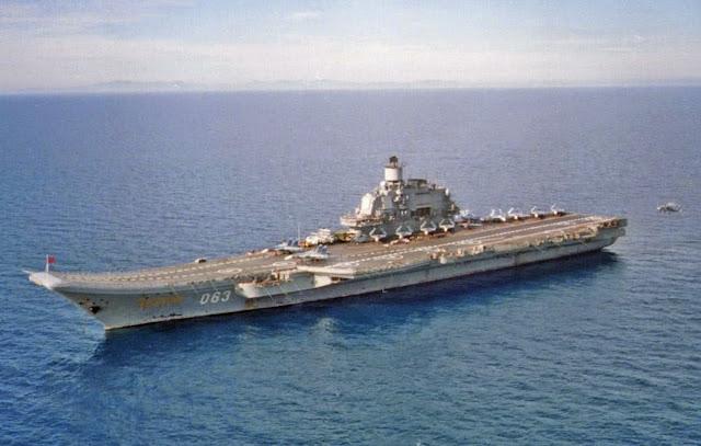 Resultado de imagen de Avión espía de EE.UU. vuela cerca del portaaviones ruso Admiral Kuznetsov