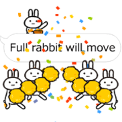 Full rabbit will move(balloon )