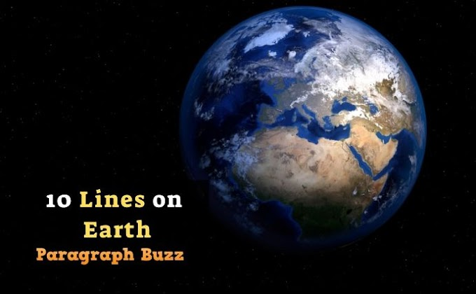10 Lines on Earth in English for Students