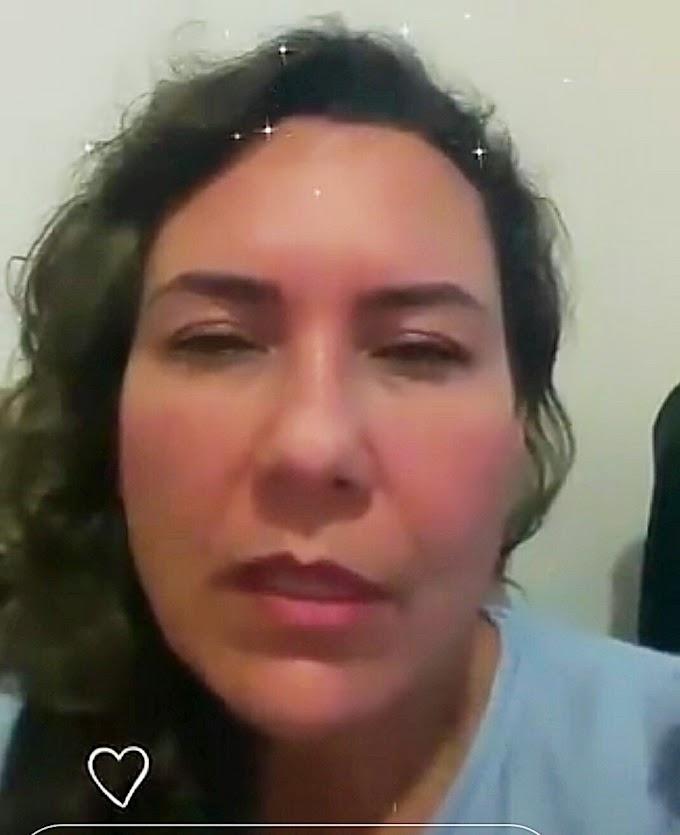 Em live direto de SP Cordélia fala sobre estado de saúde do ex-prefeito Paulo Ernesto e pede que orem por ele