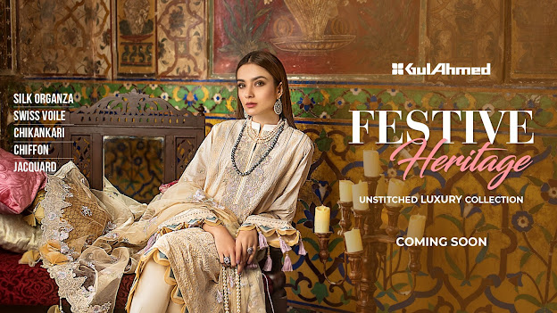 Gul Ahmed Unstitched collection Eid festive